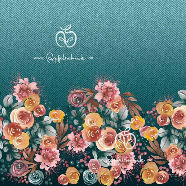 Herringbone Roses Aqua BIO-Eigenproduktion (kbA)