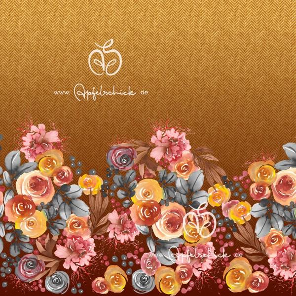 Herringbone Roses Gold BIO-Eigenproduktion (kbA)