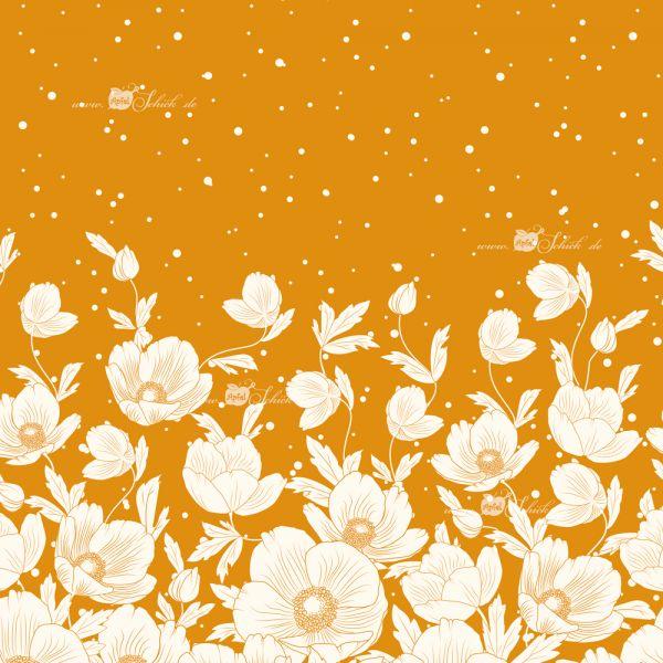 Poppies Dress Gold BIO-Eigenproduktion (kbA)