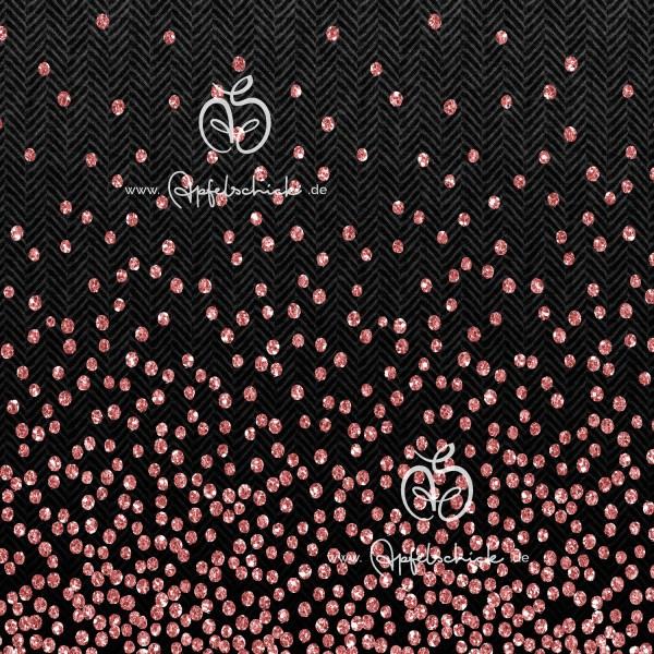 Herringbone Dots Grau-Rosé BIO-Eigenproduktion (kbA)