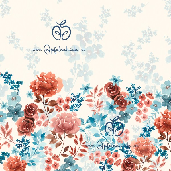 Ella Dress Creme Rost-Blau BIO-Eigenproduktion (kbA)