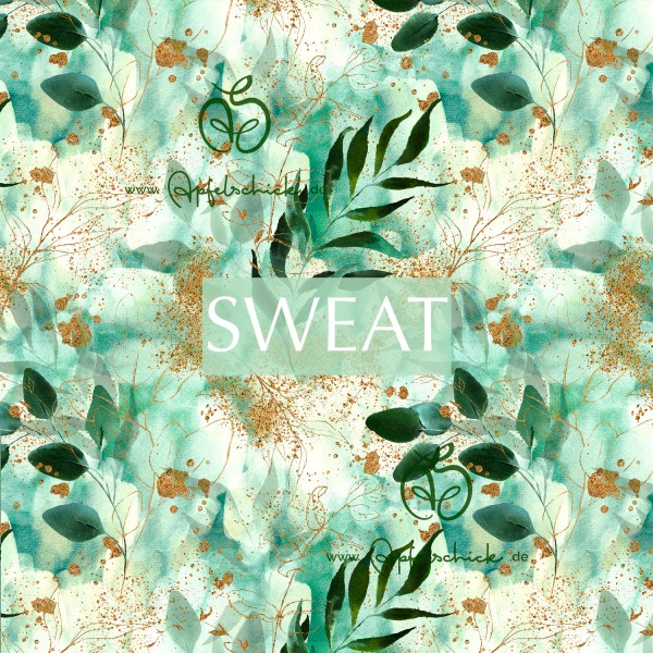 SWEAT Green Summer Leaves Light BIO-Eigenproduktion (kbA)