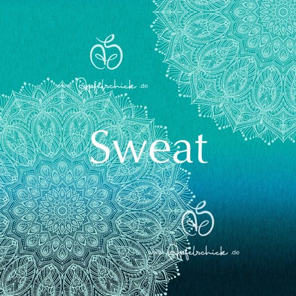 Sweat Big Mandala GRADIENT Lagoon BIO-Eigenproduktion (kbA)