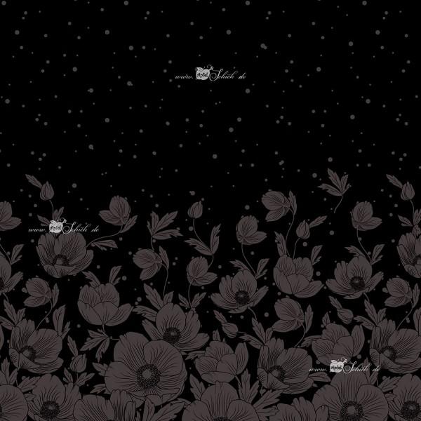 Poppies Dress Schwarz BIO-Eigenproduktion (kbA)