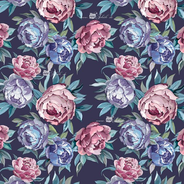 Oldschool Roses Blau BIO-Eigenproduktion (kbA)