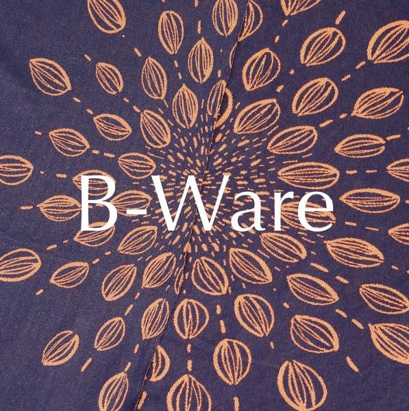 B-WARE!!! BIO-Jacquard Extravaganza Navy-Kupfer Eigenproduktion