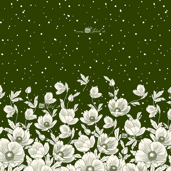 Poppies Dress Grün BIO-Eigenproduktion (kbA)