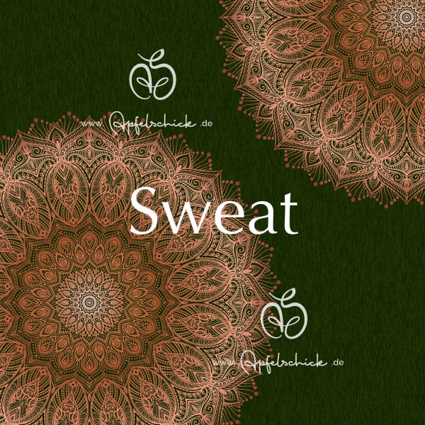 Sweat Big Mandala Grün-Kupfer BIO-Eigenproduktion (kbA)