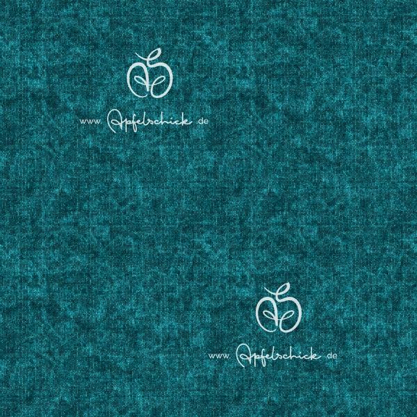 Tweed Look Petrol BIO-Eigenproduktion (kbA)