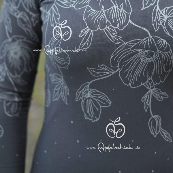 Poppies Dress Grau-Silber BIO-Eigenproduktion (kbA)