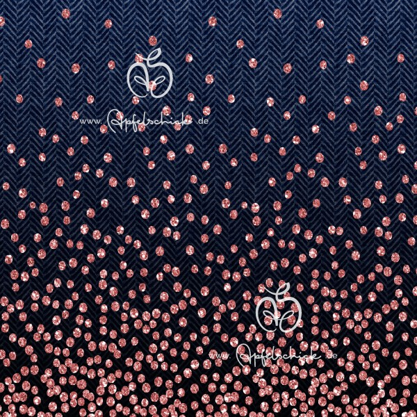 Herringbone Dots Jeans-Rosé BIO-Eigenproduktion (kbA)