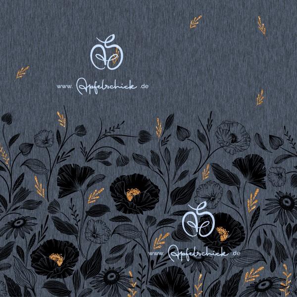 Softshell Wildblumen Graublau Eigenproduktion