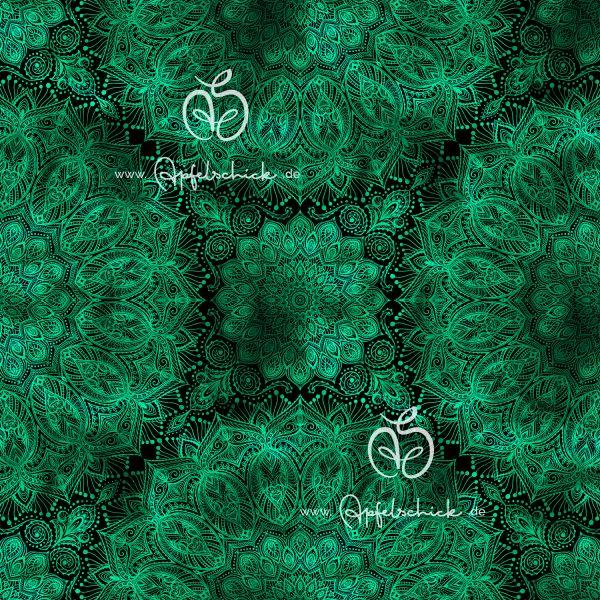 Batik Mandala Grün BIO-Eigenproduktion (kbA)