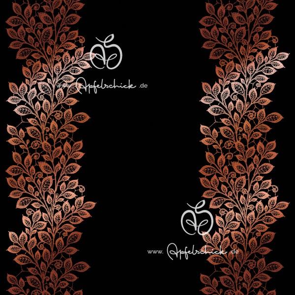 Lace Leaves Schwarz-Kupfer BIO-Eigenproduktion (kbA)