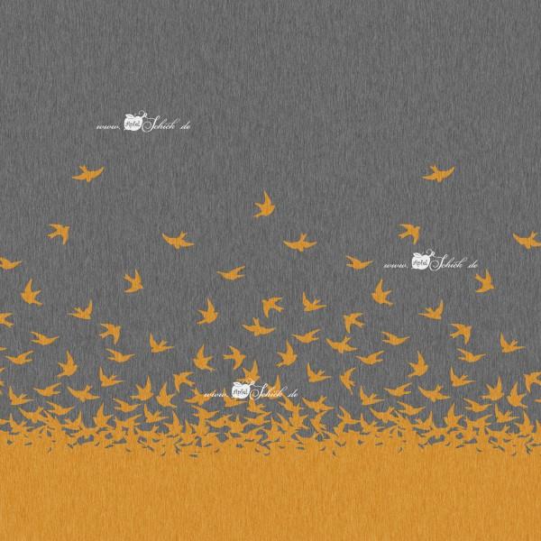 Swallow Dress Grau-Senf BIO-Eigenproduktion (kbA)
