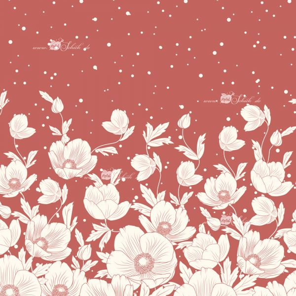 Poppies Dress Marsala BIO-Eigenproduktion (kbA)