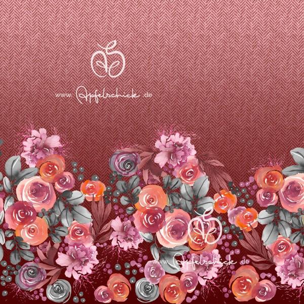 Herringbone Roses Altrosa BIO-Eigenproduktion (kbA)