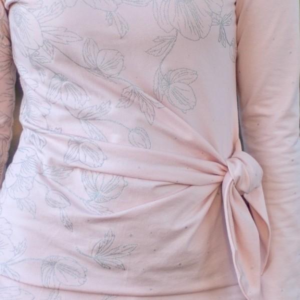 Poppies Dress Rosa/Puder-Silber BIO-Eigenproduktion (kbA)
