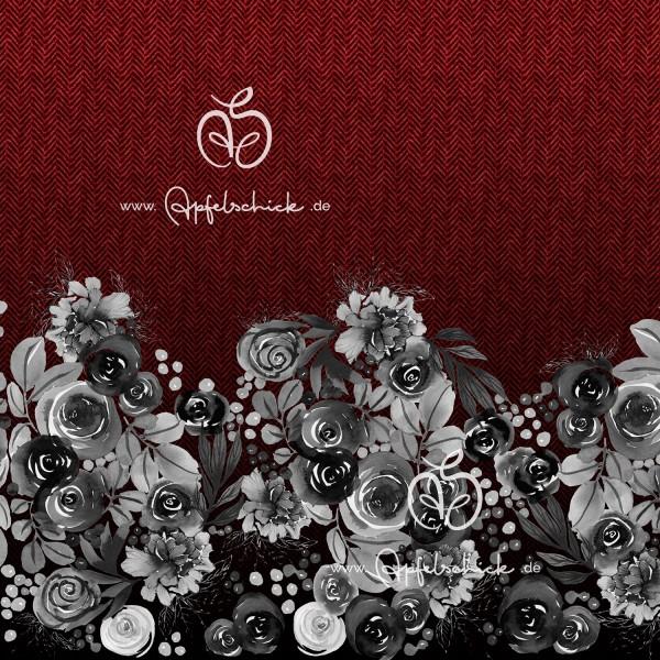 Herringbone Roses Rot BIO-Eigenproduktion (kbA)