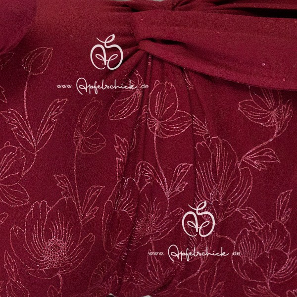Poppies Dress Rot-Rosa BIO-Eigenproduktion (kbA)