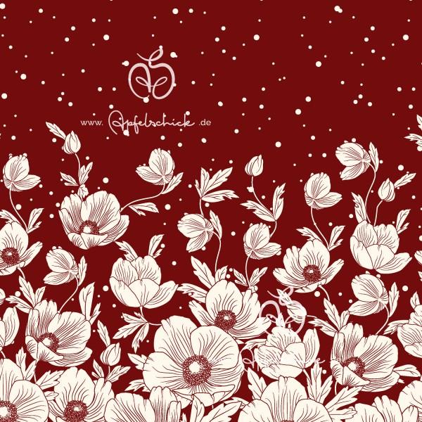 Poppies Dress Bordeaux BIO-Eigenproduktion (kbA)