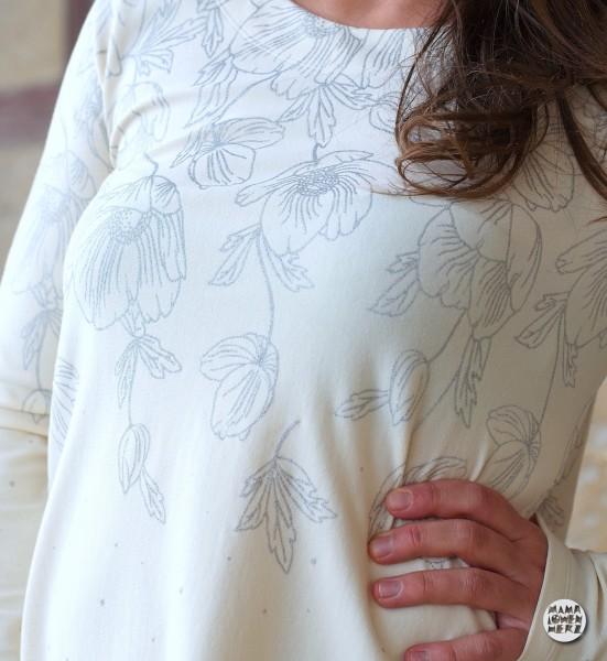 Poppies Dress Creme-Silber BIO-Eigenproduktion (kbA)