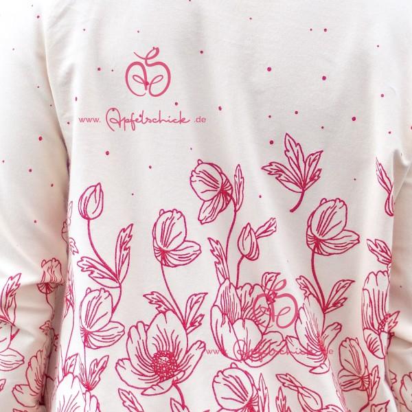 Poppies Dress Creme-Rosa BIO-Eigenproduktion (kbA)