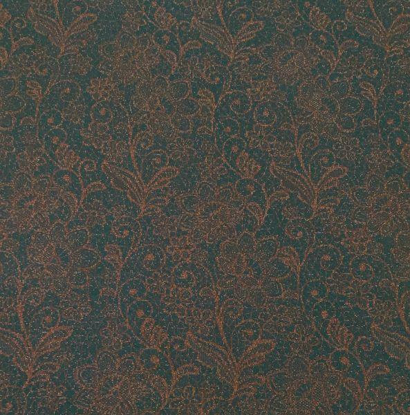 BIO-Jacquard Graceful Dunkelgrün-Kupfer Eigenproduktion