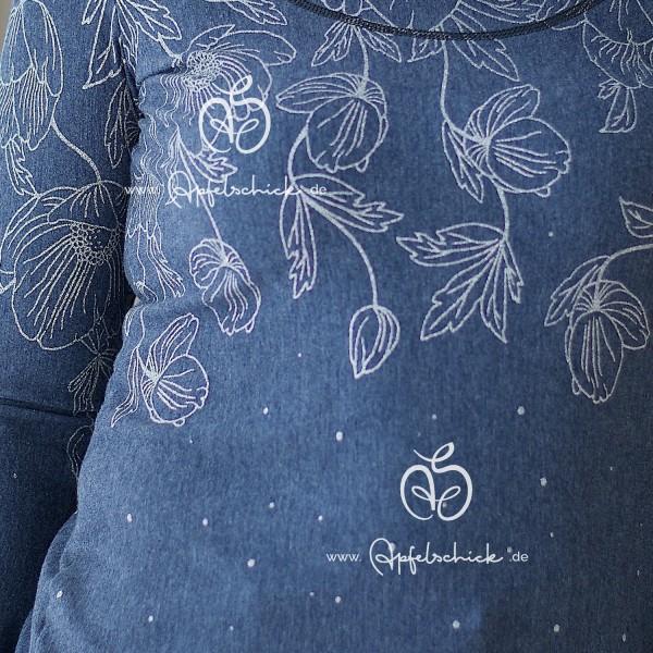 Poppies Dress Jeans-Silber BIO-Eigenproduktion (kbA)