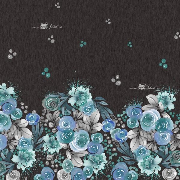 Autumn Roses Dress Blau BIO-Eigenproduktion (kbA)